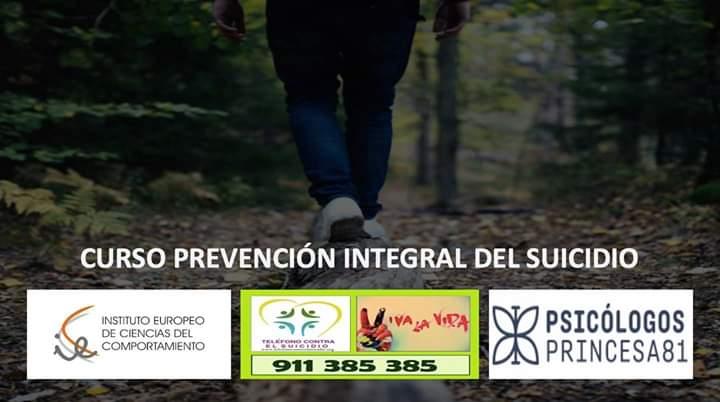 CURSO DE PREVENCIÓN INTEGRAL DEL SUICIDIO.